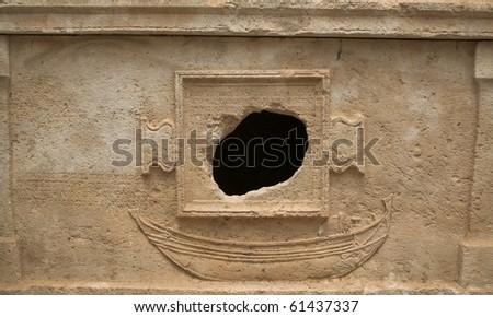 Sarcophagus of Captain Eudemos, Olympos, Turkey - stock photo