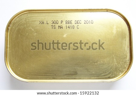 sardine tin - stock photo