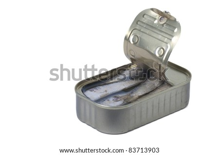sardines in can - stock photo