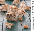 Sardinian traditional nougat, square image - stock photo