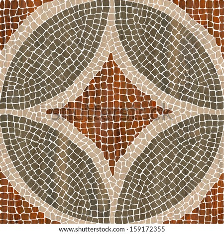 Sardis mosaic - wood mosaic texture.  ( High res.)   - stock photo