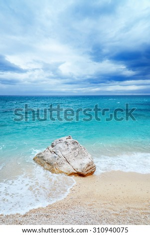 sarinian beach - stock photo