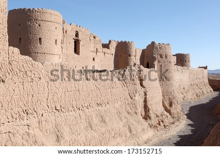 Saryazd castle clay in Yazd ,Iran