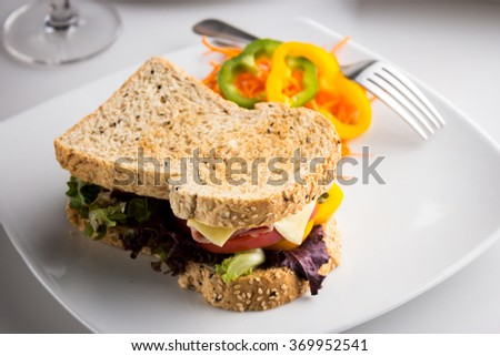 Sasame Toast with Cheese and Ham - stock photo
