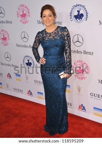 Sasha Alexander at the 26th Carousel of Hope Gala at the Beverly Hilton Hotel. October 20, 2012  Beverly Hills, CA Picture: Paul Smith - stock photo