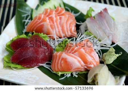 sashimi mix - stock photo