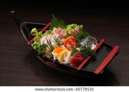 sashimi mixed - stock photo
