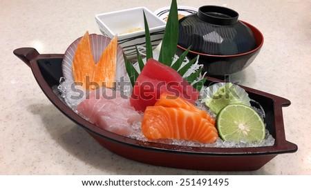 sashimi set - stock photo