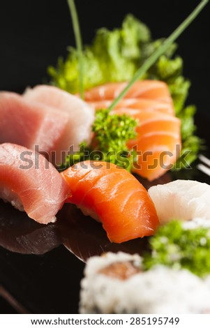 Sashimi Tuna, Salmon and White Fish Japanese Food