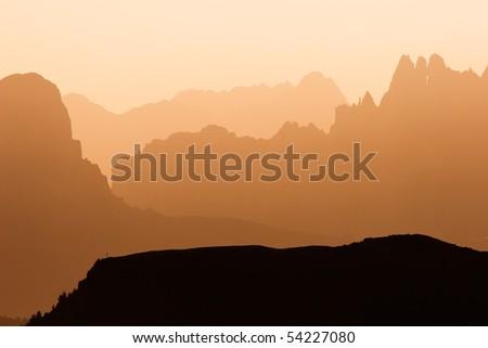 Sass Pordoi - Dolomites - stock photo