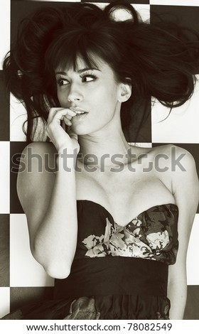 Sassy sexy girl - stock photo