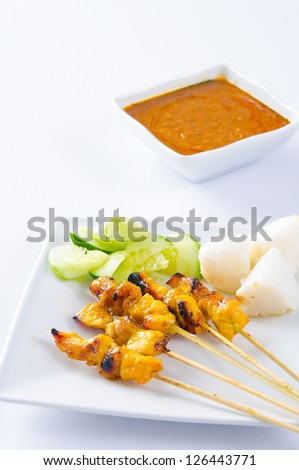 satay isolated on white