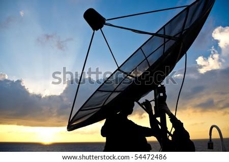 Satellite. - stock photo