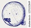 Satellite antenna. Doodle style. Raster version - stock photo