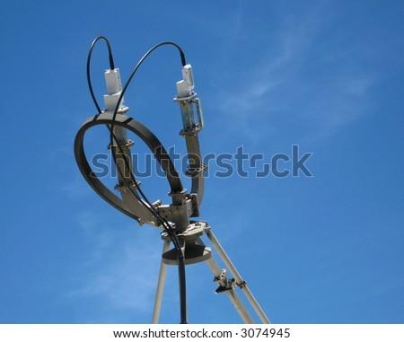 Satellite Communication Dish / Feed - stock photo