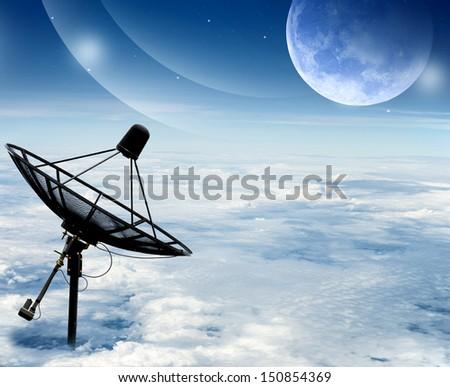 satellite concept - stock photo