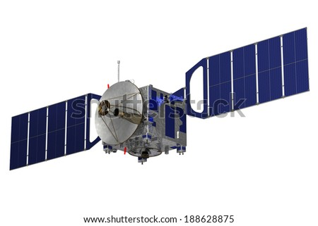 Satellite. 3D Model. - stock photo