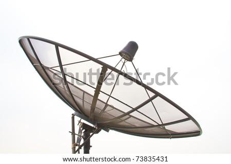 Satellite dish - stock photo