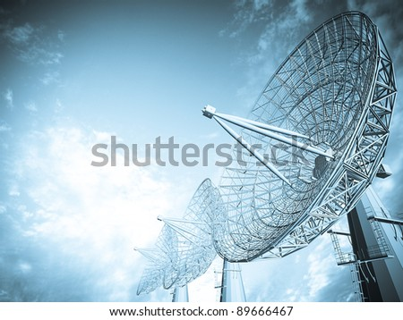 Satellite dish - stock photo