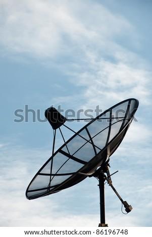 Satellite Dish Antenna - stock photo