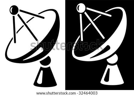 Satellite dish icon. See vector version in my portfolio. - stock photo