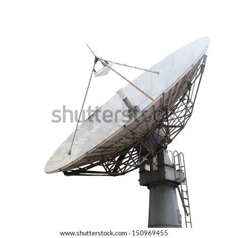 Satellite dish , Isolated on white - stock photo