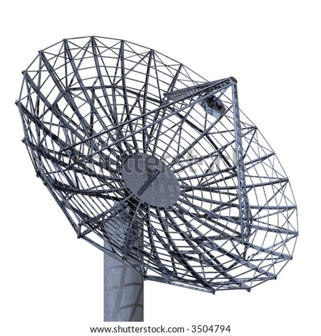 Satellite Dish Isolation - stock photo
