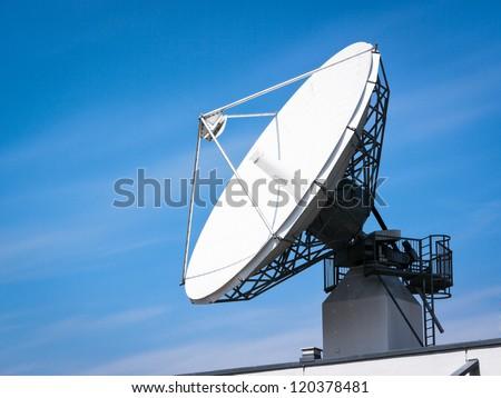 satellite dish near vienna - stock photo