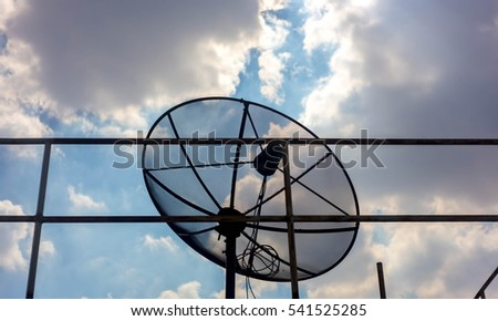 satellite dish on a blue background