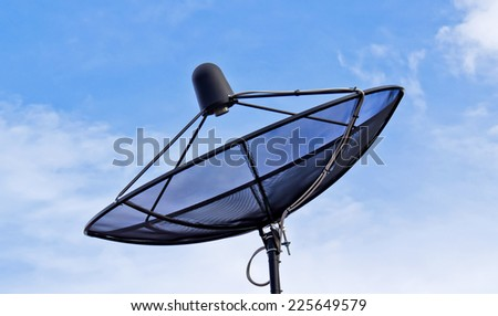 satellite dish sky