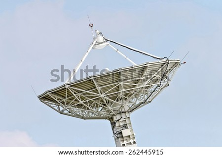 satellite dish sky - stock photo