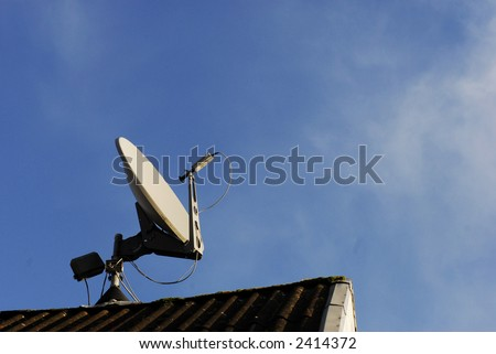 Satellite Dish Sky Blue