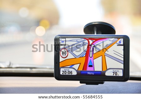 Satellite navigation system - stock photo