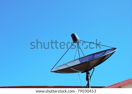 satellite on a roof
