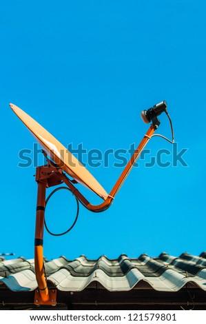 Satellite receiver - stock photo