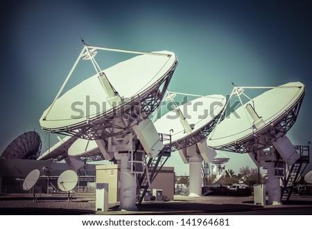 Satellite station - stock photo