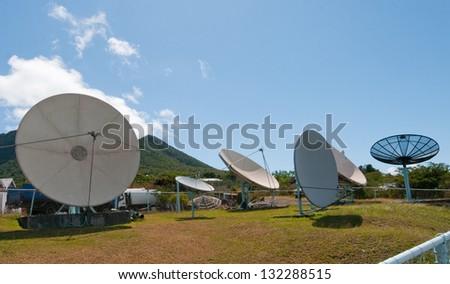 Satellites - stock photo