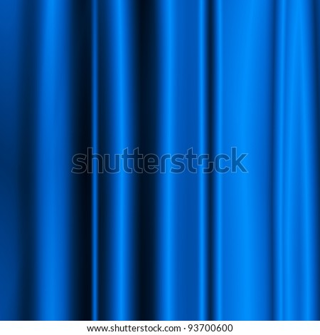 satin blue fabric background to insert text or design - stock photo