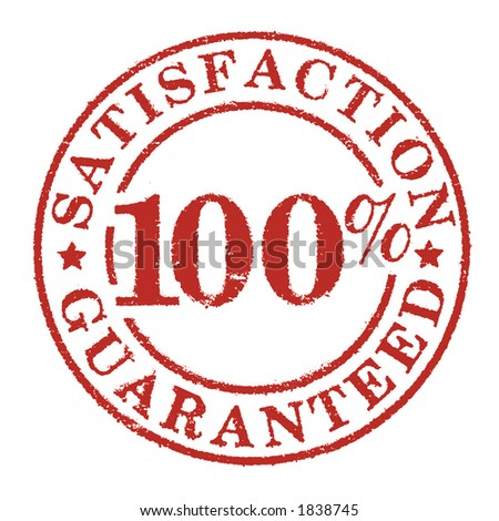 satisfaction stamp - stock photo