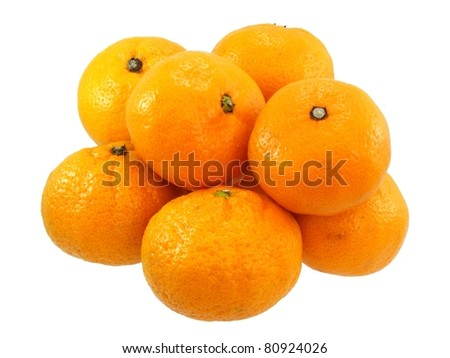 Satsaumas in a Pile - stock photo