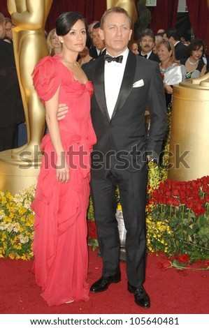 Satsuki Mitchell and Daniel Craig at the 81st Annual Academy Awards. Kodak Theatre, Hollywood, CA. 02-22-09 - stock photo