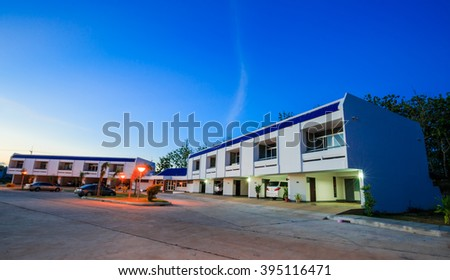 SATTAHIP CHONBURI - MARCH,24 : The modern building of Navy officer where located near Pattaya that is rest in relax and comfort zone.THAILAND MARCH,24 2016