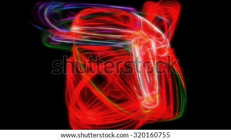 Saturated red circling energy