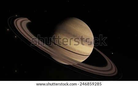 Saturn - stock photo