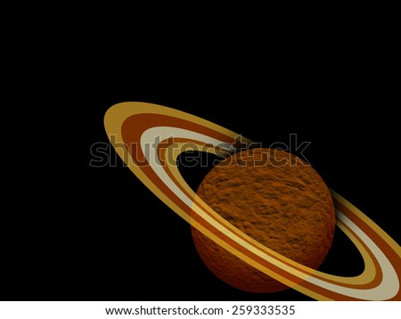 Saturn - stock photo