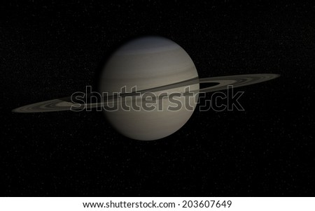 """Saturn """"Elements of this image furnished by NASA """" - stock photo"""