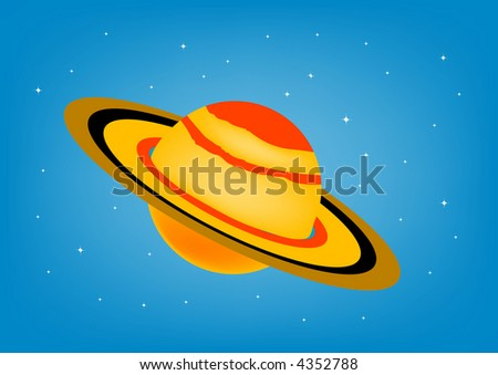 saturn illustration - stock photo