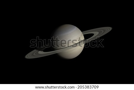 "Saturn isolated in black   ""Elements of this image furnished by NASA"" - stock photo"