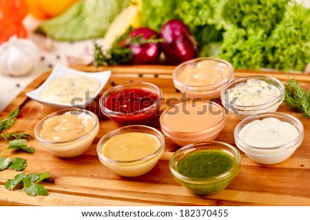 Sauce assortment - stock photo