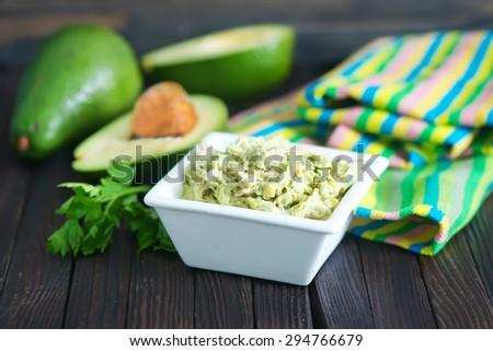 sauce from avocado - stock photo
